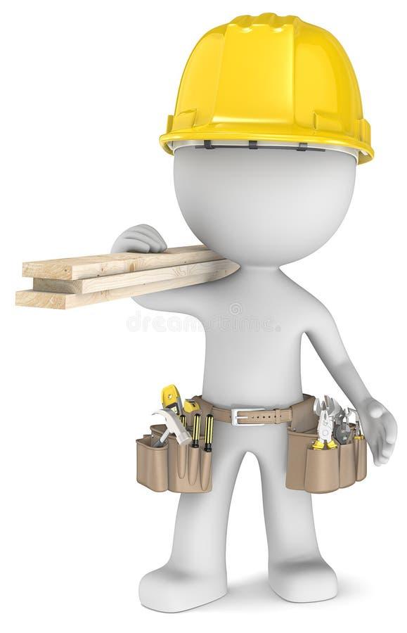 O carpinteiro. ilustração do vetor