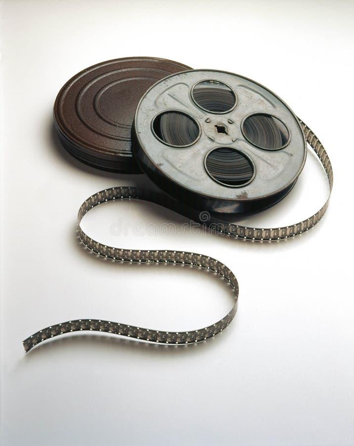 O carretel de película do filme & pode imagens de stock