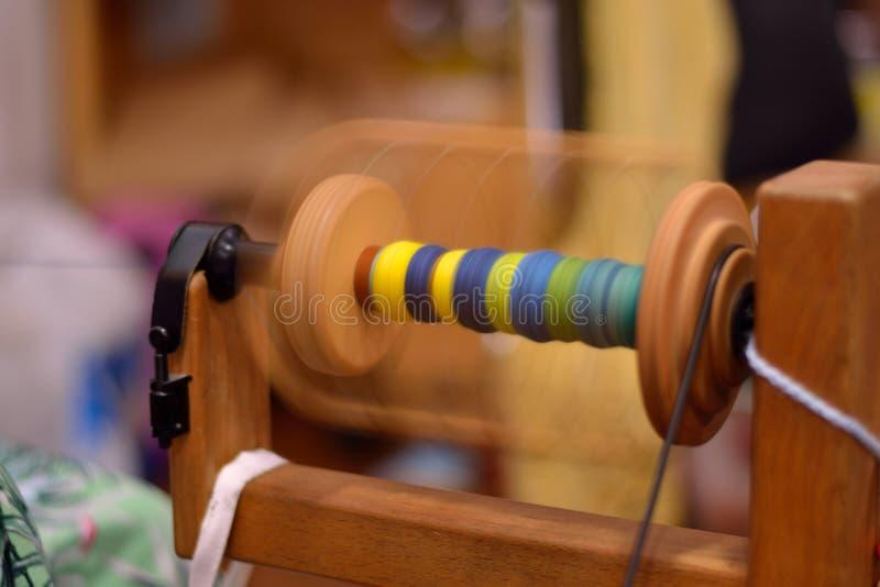 O carretel de um giro roda dentro o movimento fotografia de stock