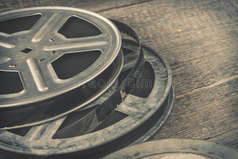 O carretel velho do filme foto de stock royalty free