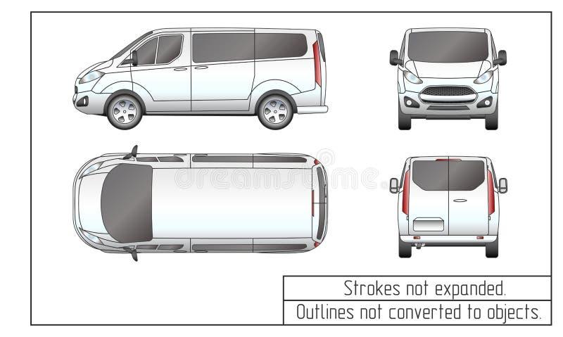 O carro camionete desenho esboça não convertido aos objetos ilustração royalty free