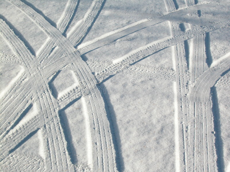 O carro da neve segue o sumário foto de stock royalty free