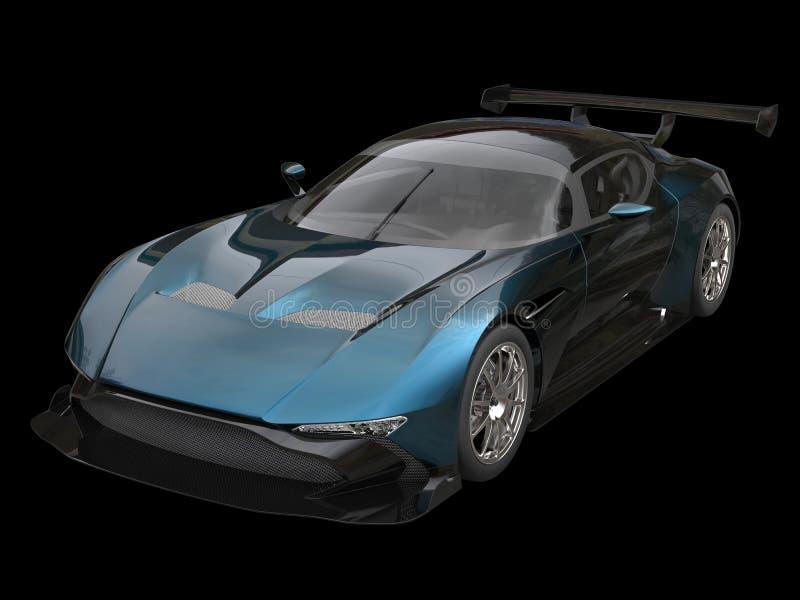 O carro de corridas moderno, enegrece a pintura de dois tons ilustração royalty free