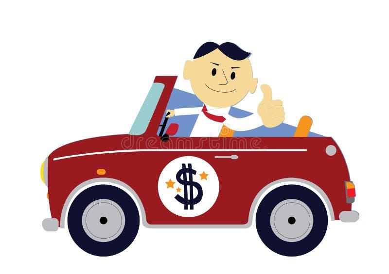 O carro de homem rico ilustração stock