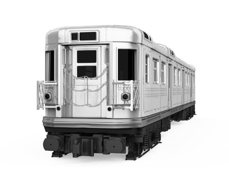 O carro de metro isolou-se ilustração stock