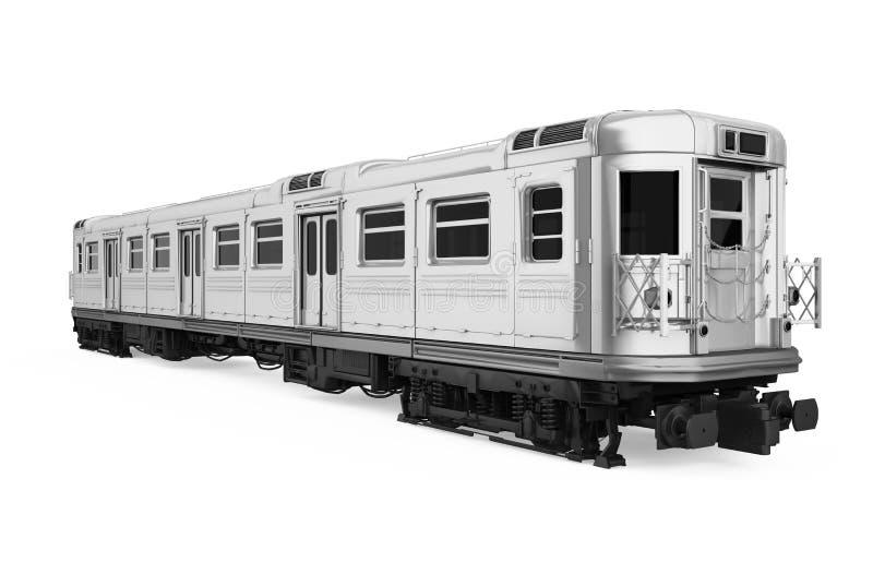 O carro de metro isolou-se ilustração do vetor