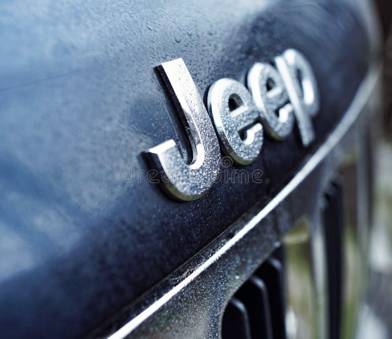 o carro do detalhe da decoração do close-up do jipe deixa cair o transporte imagem de stock royalty free