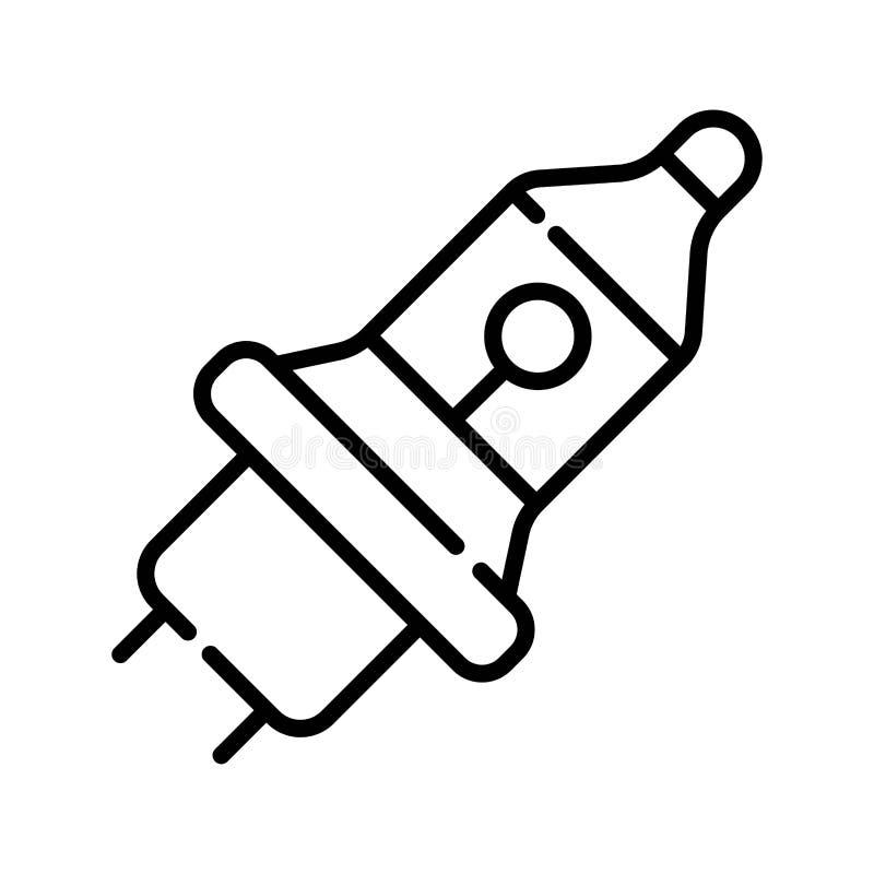 O carro ilumina o ícone ilustração stock