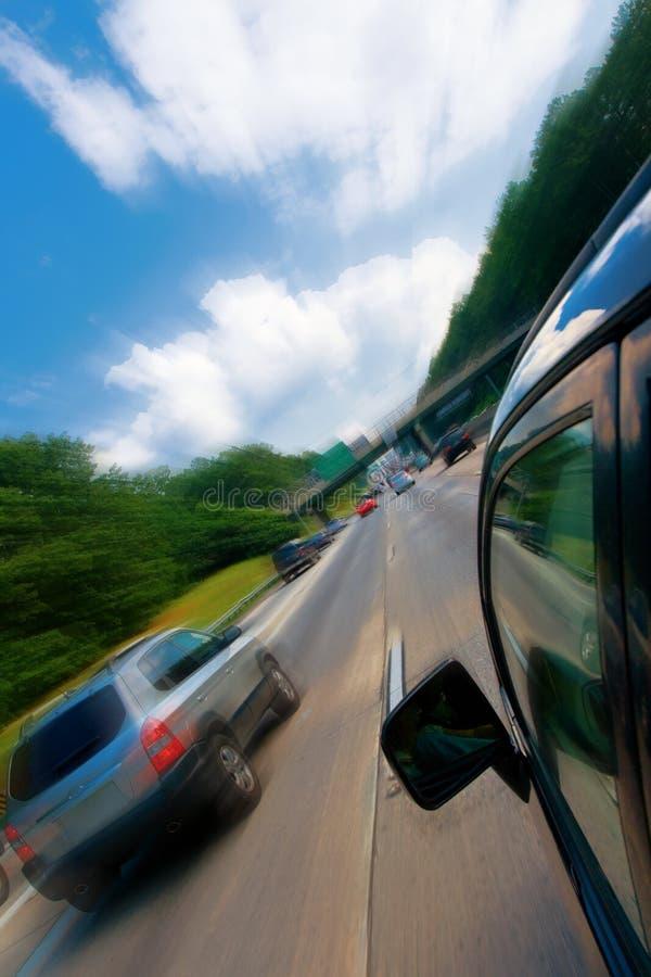 O carro jejua movimentação imagem de stock