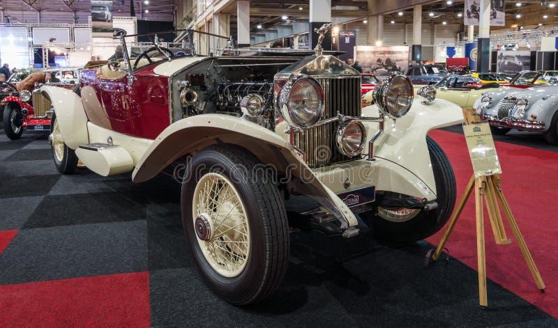 O carro luxuoso Rolls-Royce Phantom mim popa Tourer, 1928 foto de stock