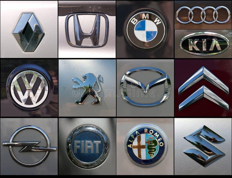 O carro marca a colagem imagens de stock royalty free