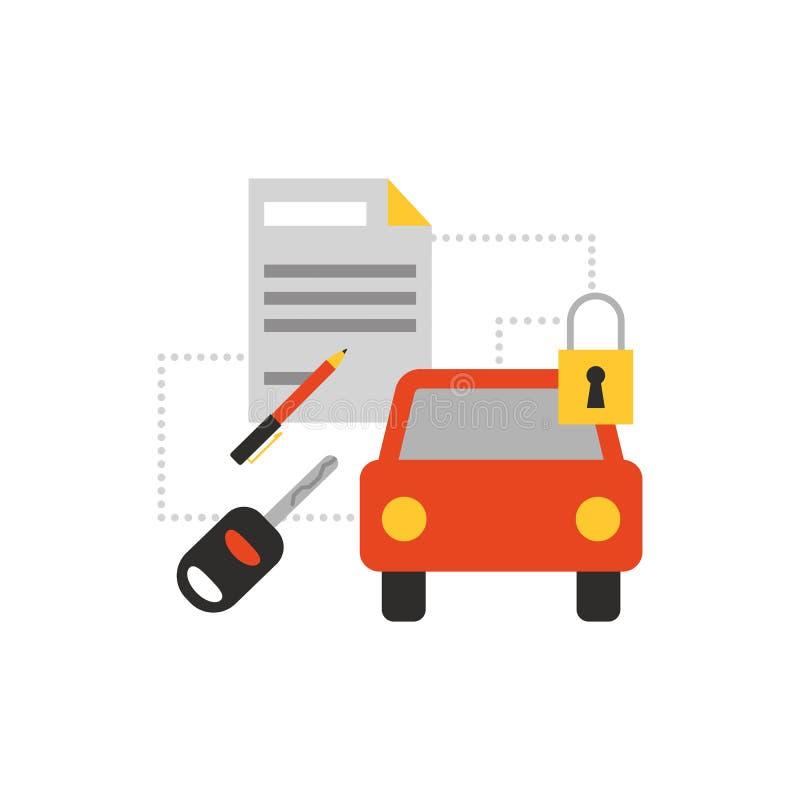 O carro presta serviços de manutenção ao ícone ilustração do vetor