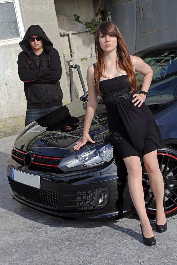 O carro preto foto de stock royalty free
