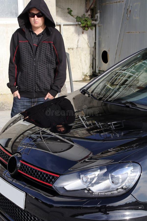 O carro preto fotos de stock royalty free