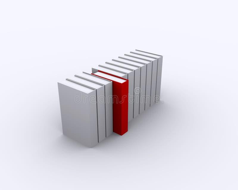 O cartão branco limitou o cartão vermelho ilustração royalty free