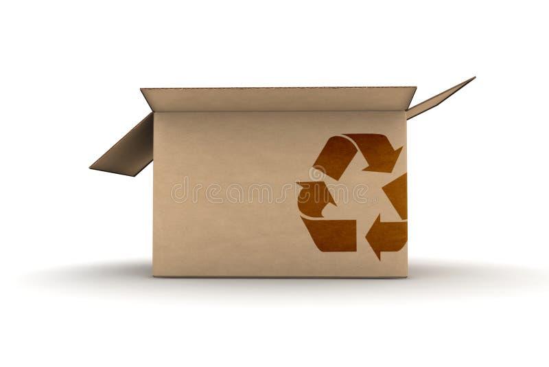 Download O Cartão Com Recicl O Símbolo Ilustração Stock - Ilustração de indústria, borne: 10052675