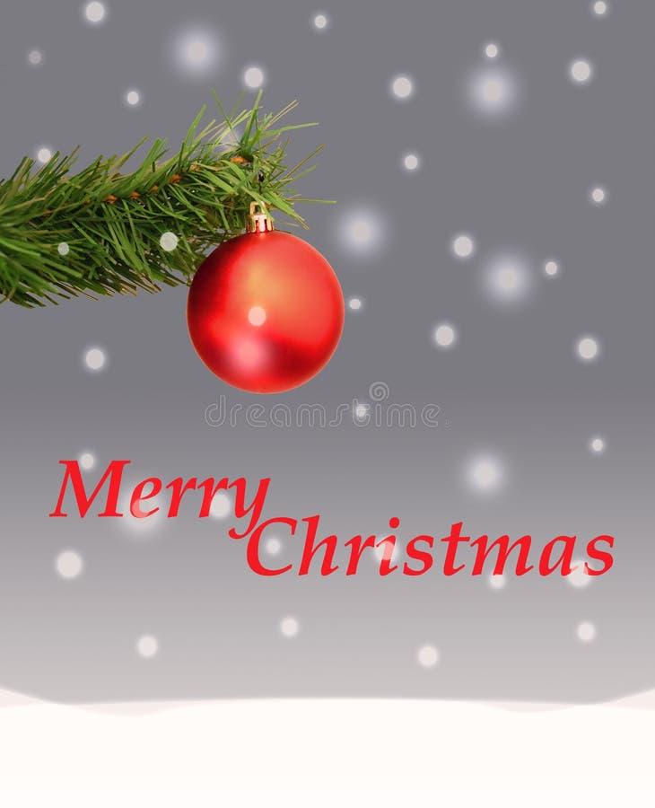 O cartão de Natal imagens de stock royalty free