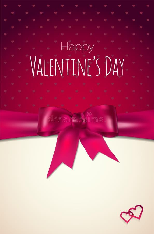 O cartão do dia de Valentim com coração abstrato e a violeta curvam-se ilustração stock
