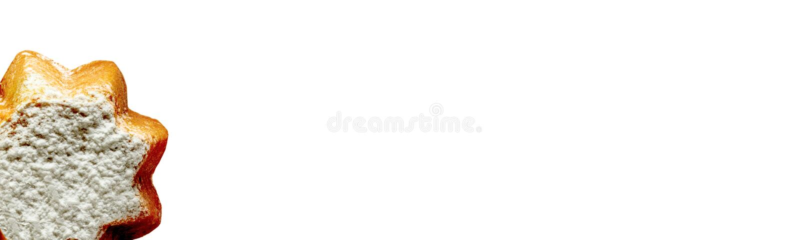 O cartão do Panettone imagens de stock