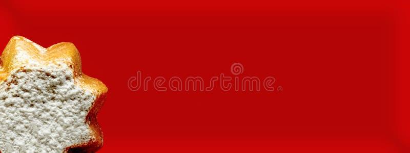 O cartão do Panettone fotografia de stock