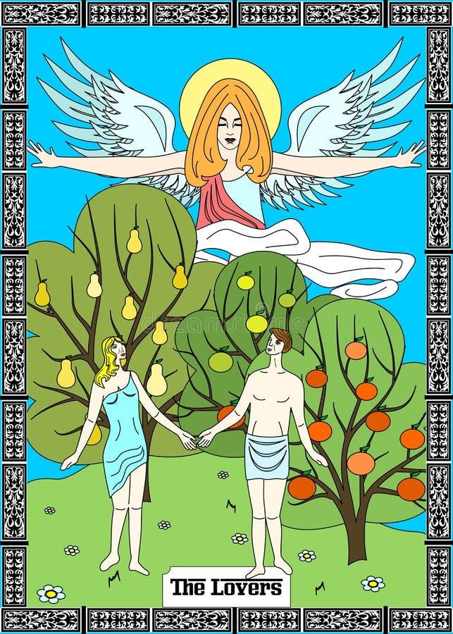 O cartão dos amantes ilustração royalty free
