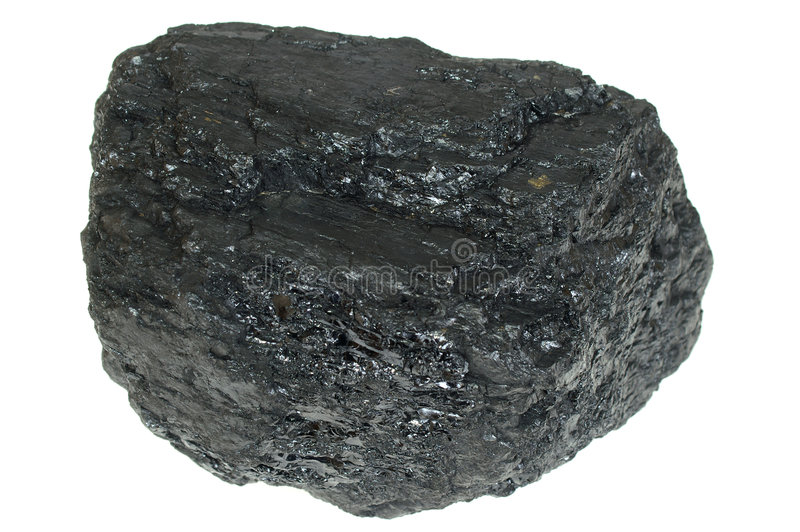 O carvão isolou-se imagens de stock