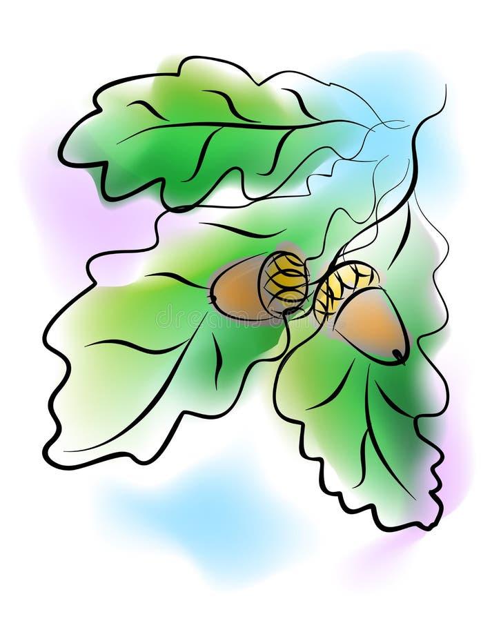 O carvalho ilustração royalty free