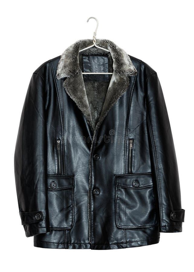 O casaco de cabedal dos homens fotos de stock royalty free