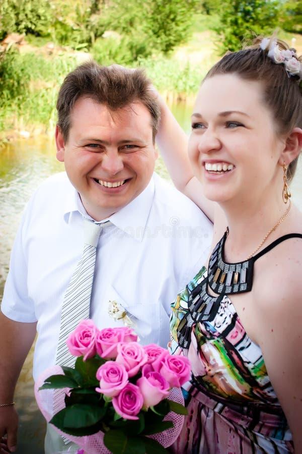 O casamento novo novo da família imagem de stock royalty free