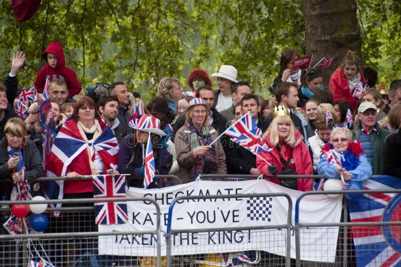 O casamento real em Londres imagens de stock