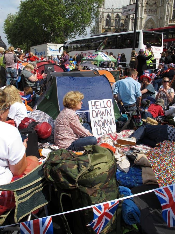 O casamento real ventila Londres imagem de stock royalty free