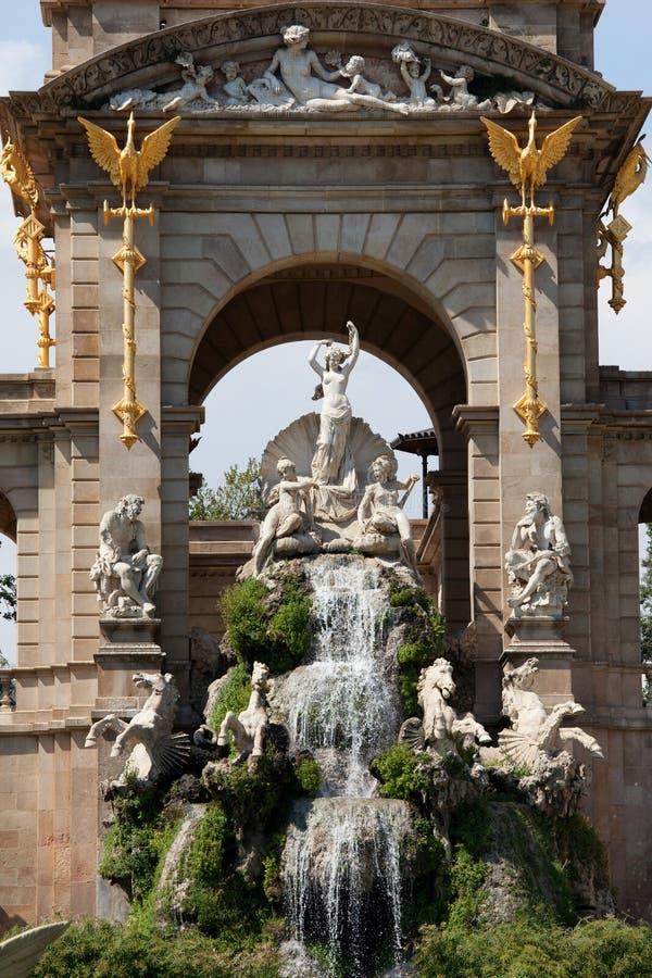 O Cascada no parque de Ciutadella em Barcelona imagens de stock royalty free