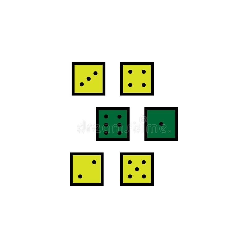 O casino, corta Elemento do ícone do casino para apps móveis do conceito e da Web O casino detalhado, corta pode ser usado para a ilustração do vetor