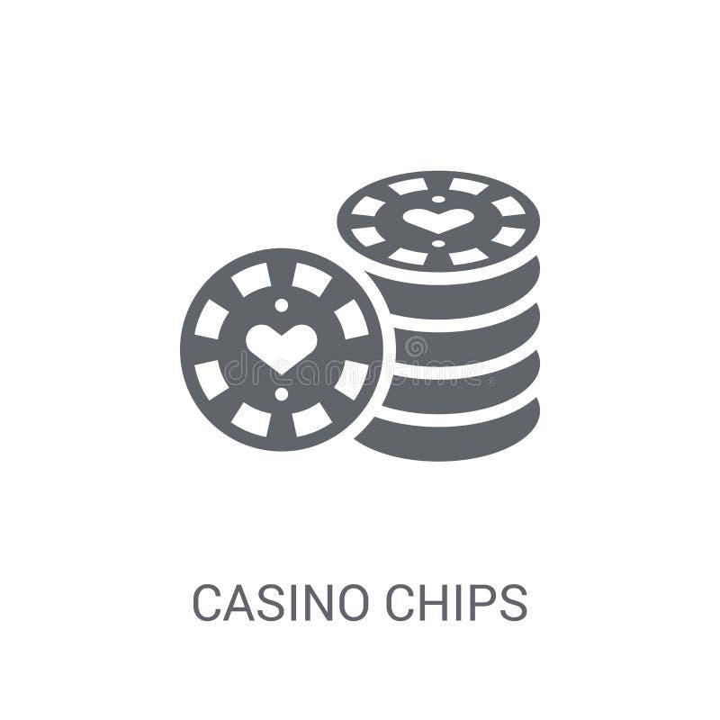 O casino lasca o ícone  ilustração stock
