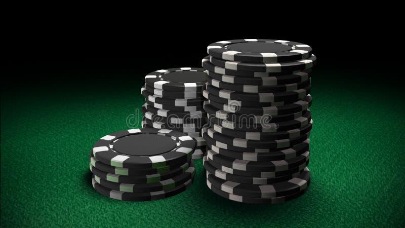 O casino lasca o preto fotografia de stock