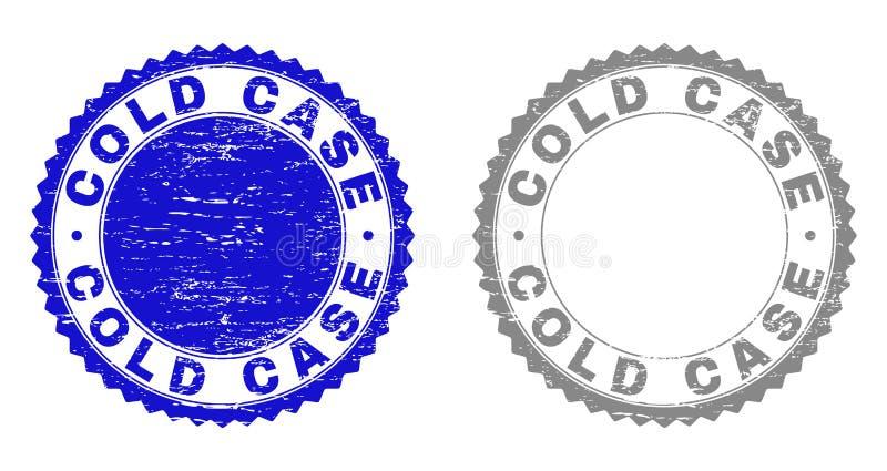 O CASO ARQUIVADO do Grunge riscou selos ilustração royalty free