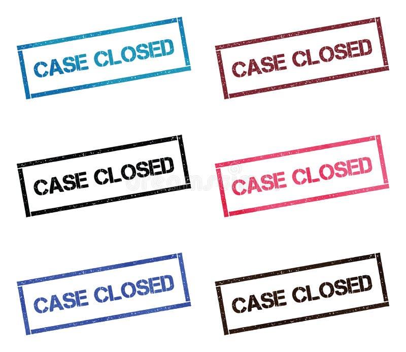 O caso fechou a coleção de selo retangular ilustração stock
