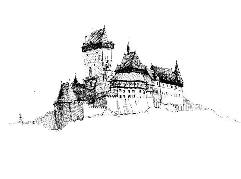 O castelo antigo imagem de stock