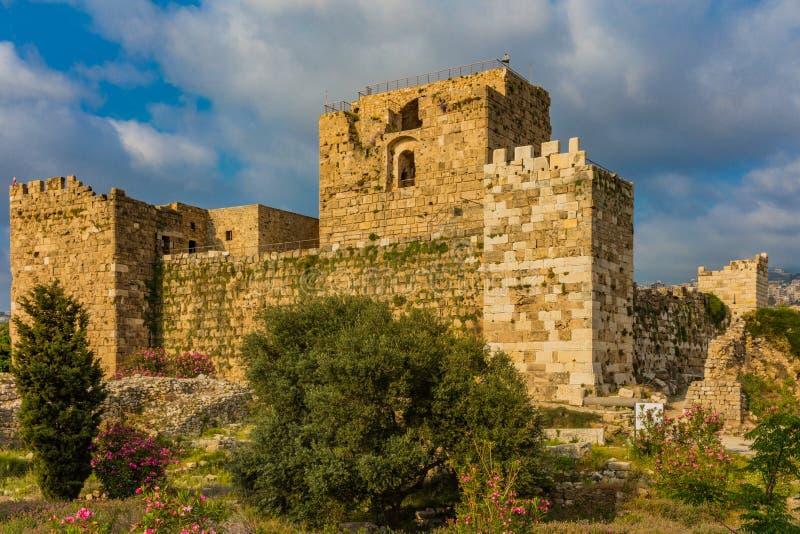 O castelo Byblos Jbeil L?bano do cruzado fotografia de stock royalty free