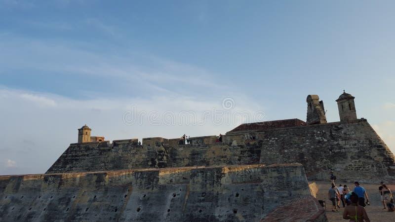 O castelo Cartagena - Colômbia de San Felipe imagens de stock royalty free