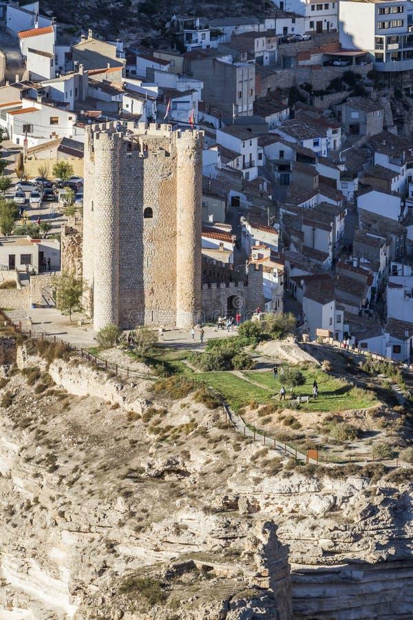 O castelo da origem do Almohad do século XII, recolhe Alcala de t imagens de stock