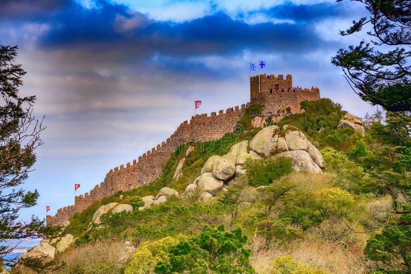 O castelo de amarra em Sintra, Portugal fotografia de stock royalty free