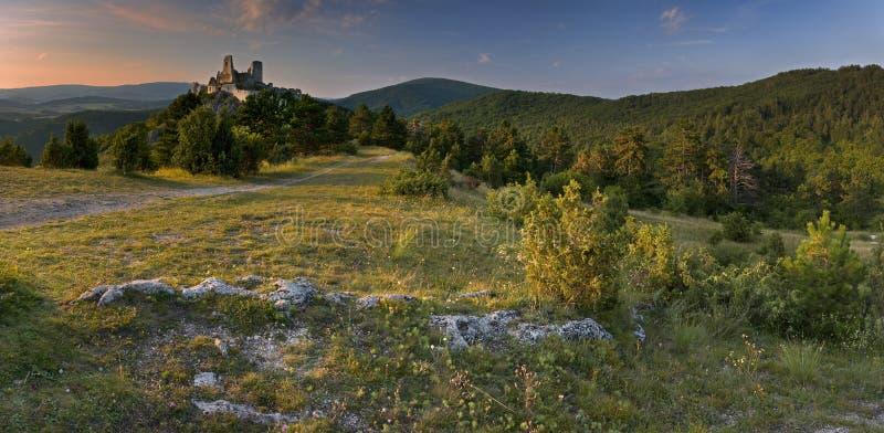 O castelo de Cachtice foto de stock
