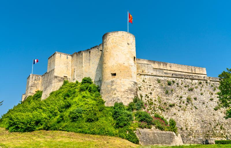 O castelo de Caen, um castelo em Normandy, França imagem de stock
