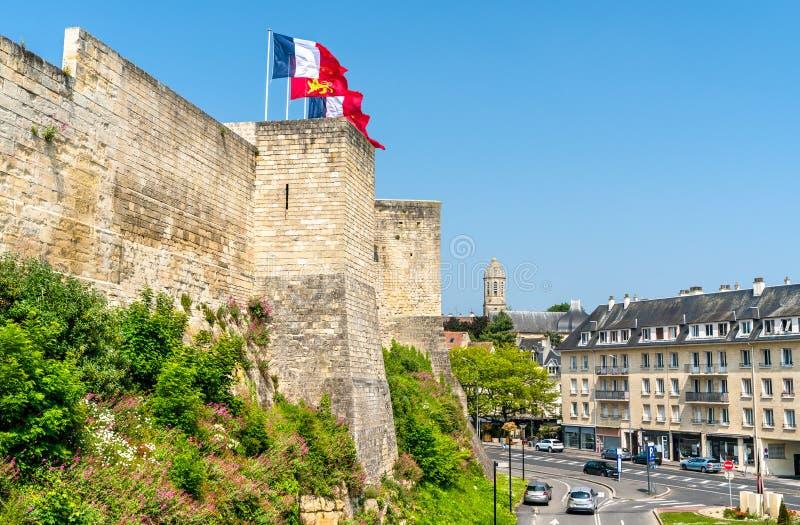 O castelo de Caen, um castelo em Normandy, França fotos de stock royalty free