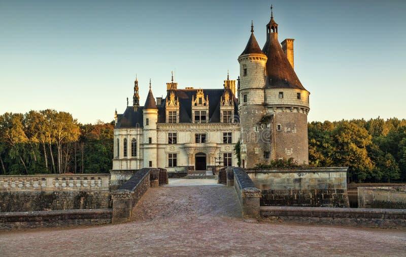 O castelo de Chenonceau imagens de stock