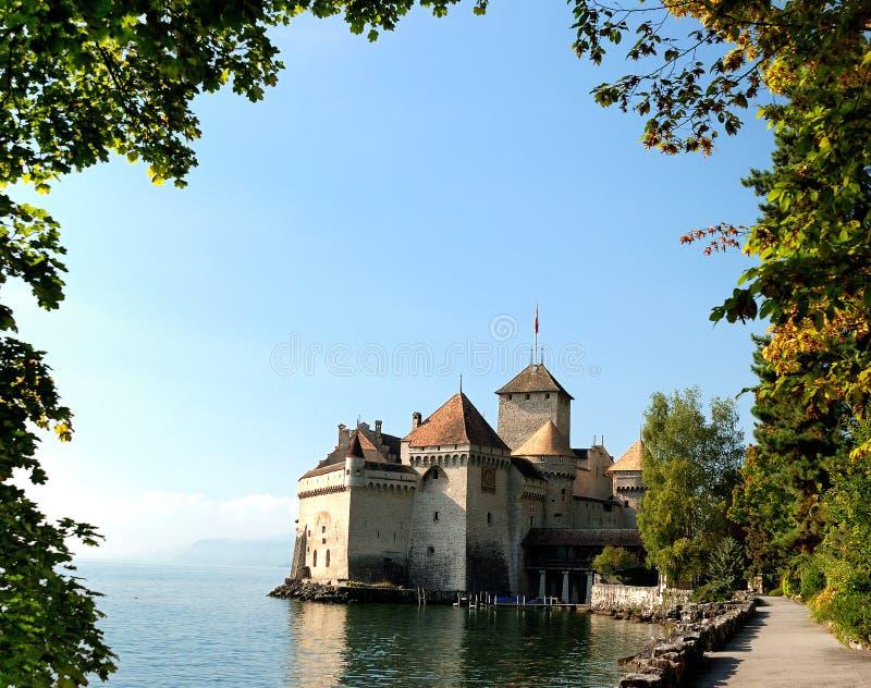 O castelo de Chillon foto de stock