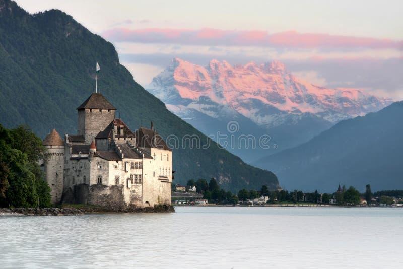 O castelo de Chillon em Montreux (Vaud), Switzerland imagens de stock