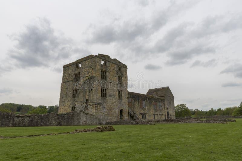 O castelo de Helmsley, Helmsley, North Yorkshire amarra, North Yorkshire, Inglaterra foto de stock