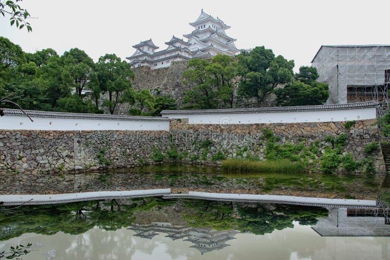 O castelo de Himeji, filme de Hollywood, último samurai foi filmado aqui fotos de stock royalty free